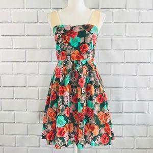 BB Dakota Floral Tulle Strap Dress